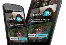 Breaks Up - Mobile App / Breaks Up is a mobile app developed by Burgeon.