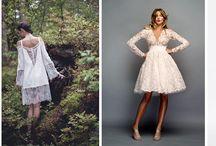 Krótka sukienka ślubna / krótka sukienka ślubna na przebranie po północy na poprawiny
