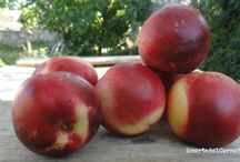 briñón o brugnon / Briñón, peladilla o brugnon, todos estos nombres para una misma fruta deliciosa, delicada y única. Una subvariedad del melocotón o durazno caracterizada por la falta de pelusa en su piel.