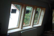 Lambériás belső burkolat készítés / Tetőablakok belső kávaburkolatának kialakítása lambériával.