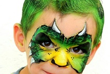 monsters/dino's facepaint