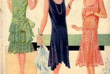 1920s fashion drawings