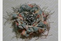 Fabric flowers & embellishing