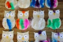 Activité : oiseaux // assistante maternelle / oiseaux, hiboux, rossignol, plume  Assistante maternelle nounou enfant crèche RAM MAM petite enfance bébé activité et jeu