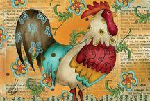 horoz ve tavuk dekupajları