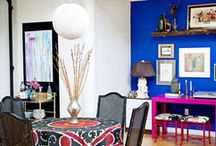 Color design inspirations / Mostly cobalt, indigo & pink