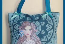 Bolsos-Bolsas- Talentox2 / Bolsos y bolsas artesanales pintadas a mano. #bolsos, #bags, #complementosmujer, #hechoamano, #handmade #bolsoshechosamano #pintadoamano #bolsosoriginales #talentox2modabolsos