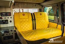 Camper Van interiors T5 / camper van, T5. flooring , cupboards,  leather .