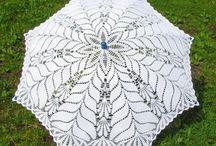 Sombrillas y Abanicos a crochet