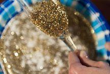 glas goud vlok