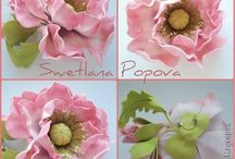 Цветы из фоамирана и холодного фарфора