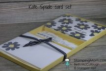 Inpired by Kate Spade / Cards and gifts made by demo Beth McCullough, inpired by Kate Spade colors and Kate Spade items.