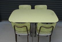 1950s-60 dining settings - green