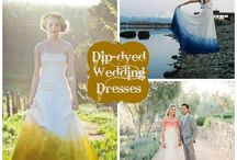Dip-Dyed Wedding Dresses