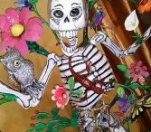 Dia de los Muertos (Day of the Dead) / Art and festivities surrounding Dia de los Muertos.