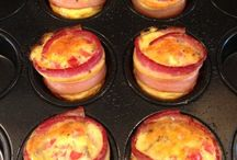 Bacon Egg & Cheddar muffins / Easy & really good