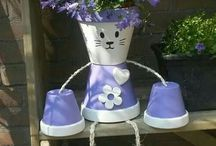 Claypot , Kukkaruukut , kasvit
