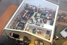 miniature cars and garages