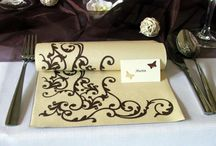 Svadobná výzdoba čokoládovohnedá a vanilková či krémová
