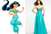 Disney princesses prom dresses