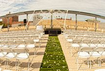 Garden Terrace Ceremonies / Our Garden Terrace is a hidden gem in Iowa City -- a perfect spot for Ceremonies overlooking the Ped Mall. Overlook the beautiful downtown area while getting hitched!
