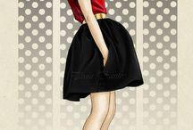 ilustración de moda (referentes)