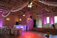Custom Uplighting / Pictures of various Weddings using custom uplighting