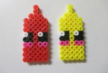 Completed Perler Pins