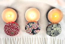 Washi Tea Tin Candles / Made from Japanese washi paper, these Washi Tea Tin candles are a fun way to liven up any room. A perfect size for travel or in your home this small candle fits almost anywhere.
