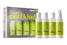 For All Curl Kind / The Kit for All Curl Kind is designed to give healthy, beautiful curls to every texture in the curly universe. This set of four essentials challenges you to never shampoo your curls again and discover incredibly versatile curl styles. / by DevaCurl