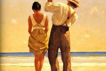 Jack Vettriano & Other / Jack Vettriano and other Paintings i Love ❤