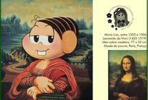 Obras de arte com a turma da Mônica