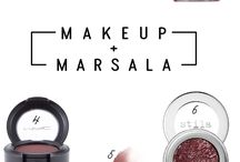 Pantone 2015 - Marsala / Colour of the year in makeup