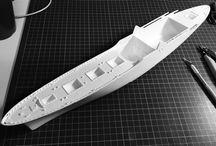 NS Savannah (1/380) / The scale model of the prestigious first merchant nuclear ship.