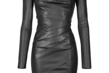Leather dress and skirts