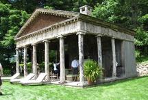 Garden Structures / Wonderful buildings, pergolas, shade structures in the landscape. Landscape Architecture, Landscape Design