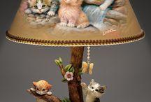 lampa z kotami