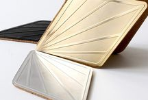 Leaf coasters / Leaf coasters look great when mixed and matched for an individual effect. This set of two metal coasters is certain to add elegance to table setting.