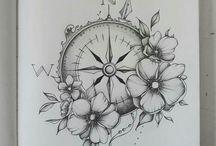 tatto,compass