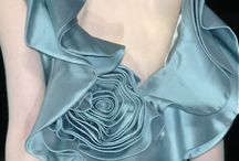 Bleu ciel rose vert d'eau / by Shirley Fashion