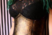 steampunk armor corset
