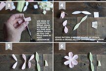 Faire - Make // Flowers - Fleurs / Des fleurs, des fleurs, des fleurs... Créer des fleurs !