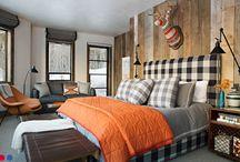 Sleeping Chalet-Style / Schlafzimmer im Chalet-Stil