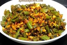 Green beans with peanuts