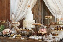 sweet table.buffet table.Dessert Table