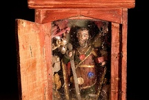 Religious Art ~ Shrines / Personal shrines, mostly folk art / by Greg LeFever