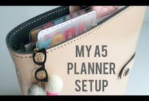 A5 planner / A5 planners: Louis Vuitton Agenda GM Kikki K Large Filofax A5