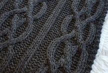 Mantas de Crochet e Tricot.