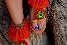 Ankle cuffed sandals