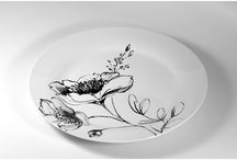 THE BLANCO / NERO PORCELAIN COLLECTION / THE BLANCO / NERO PORCELAIN COLLECTION Can Enhance Any Dinning Table #porcelain #classic #dinning #mug #plate #platter #flower